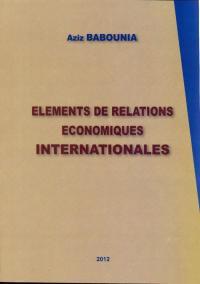 Elément de relations économiques internationales