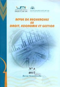 Revue de recherche en droit économie et gestion